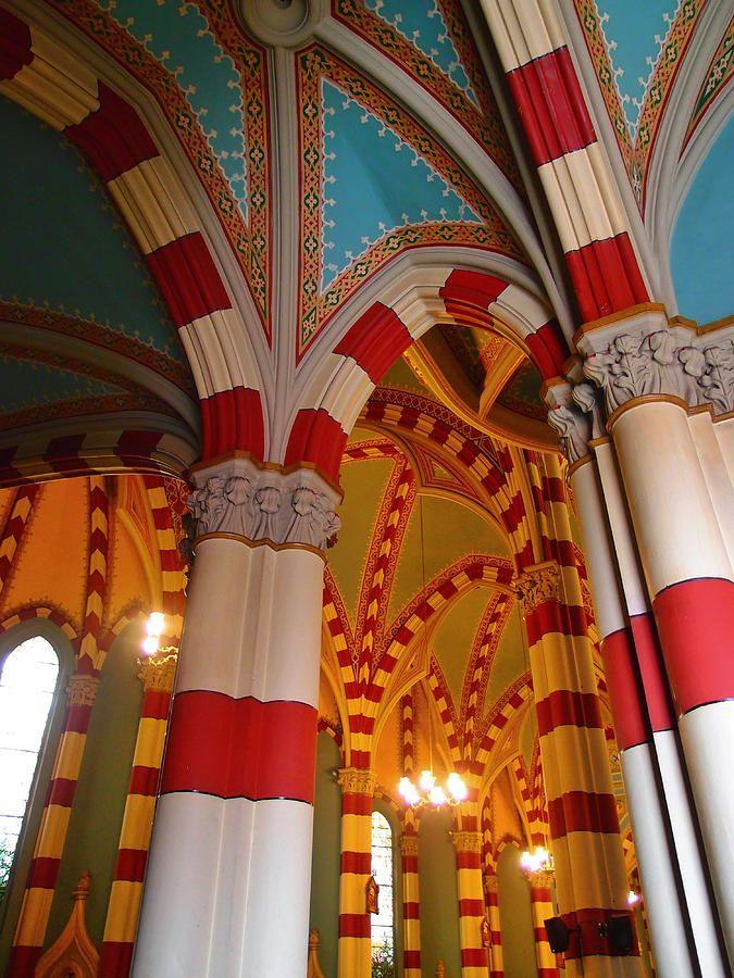 Inside the Santuario de Nuestra Señora del Carmen, Bogotá (Colombia).