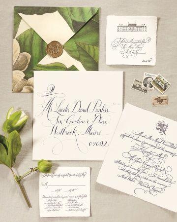Invitation for a Charlottesville, Virginia wedding, by Rock Paper Scissors | Martha Stewart Weddings