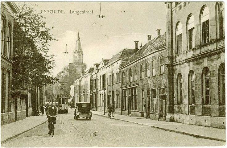 Enschede (1916) Langestraat.