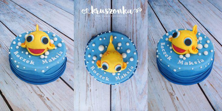 Tort na roczek Maksia z rybką Mini Mini