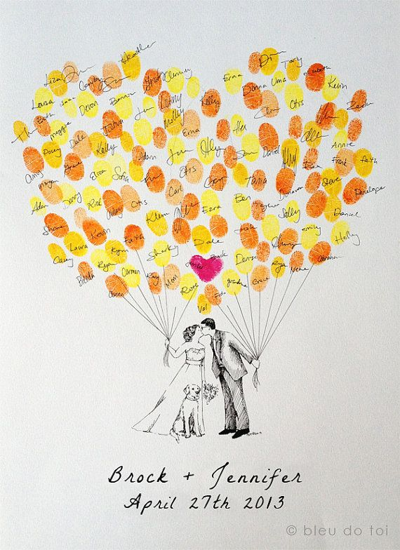 Custom Couple Thumbprint Balloon The original by bleudetoi on Etsy, $75.00 (Oooor just make it myself) :)