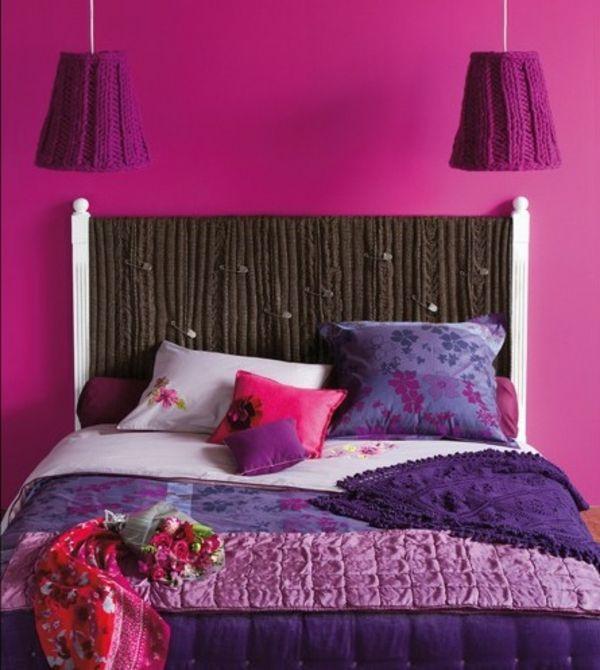 Kopfteile für Betten - coole, eigenartige Designs  - Kopfteile Betten wandfarben schlafzimmer mädchen