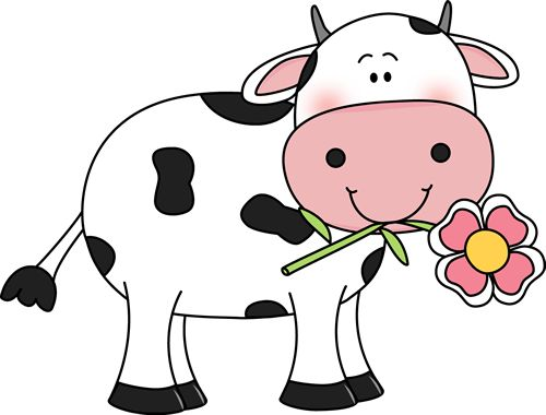 Cow with a Flower in its Mouth   --   Udderly Adorable     ---