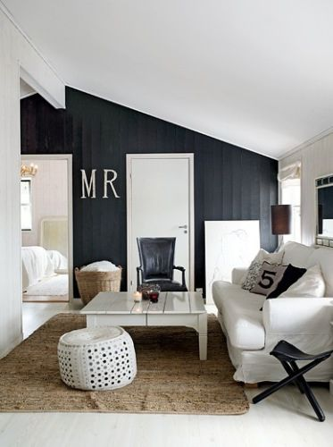 .black accent wall