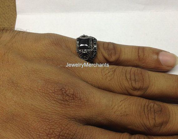 Anillo de compromiso Ct 285 Set negro de Corte Princesa novia