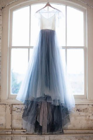 Blue wedding dress | Karra Leigh Photography - Hang Me Up...