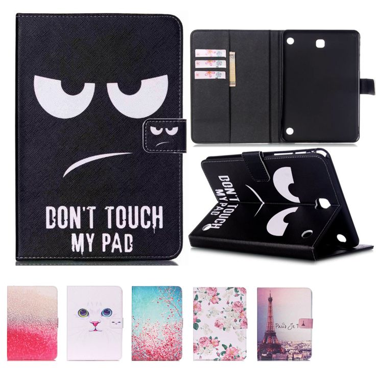 Tablet print pu leather case for samsung galaxy tab A 8.0 T350 SM-T355 8'' tablet cover case T350 folio stand case #Affiliate