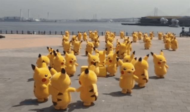 A herd of Pikachu spotted in Japan