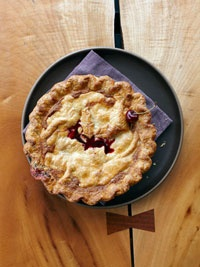 Sour Cherry Pie - Tart cherries and cranberries practically tumble out ...