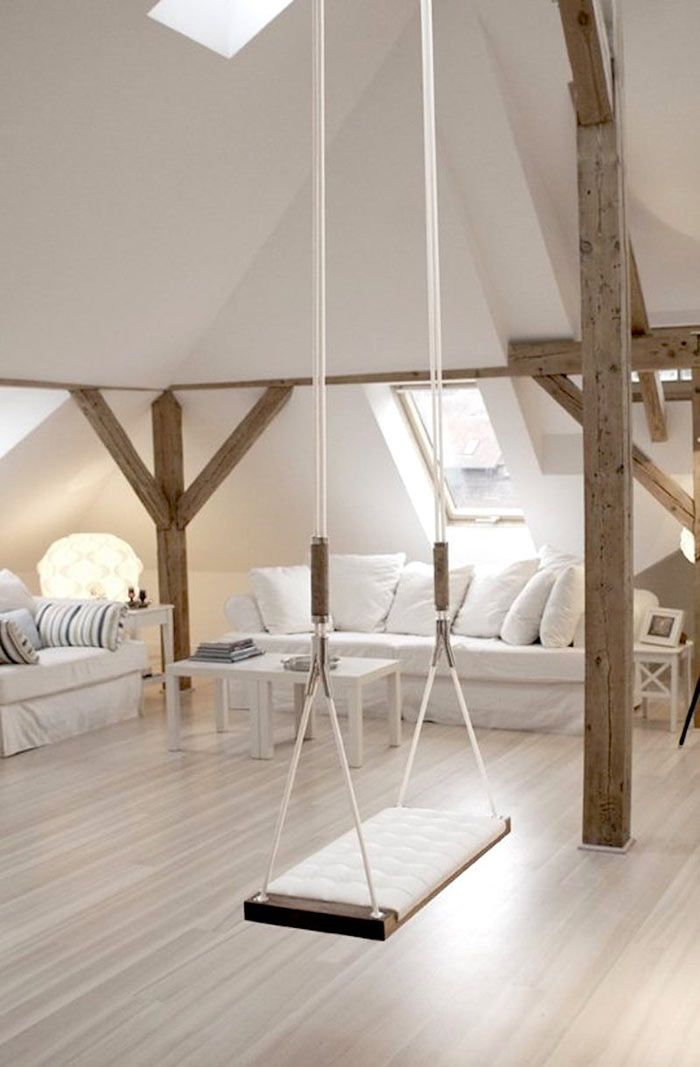 Have you noticed that interior swings  particularly popular in loft spaces   seem to be catching on more and more  You will even spot a few swings in my  book. Best 25  Childrens space bedrooms ideas on Pinterest   Shared