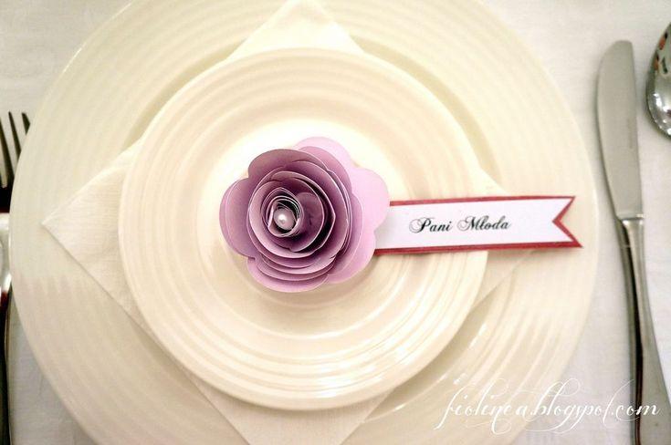 Fiolinea - Ślubna Galanteria Papiernicza: Dirty pink & rose w Pałacu Krotoszyce
