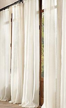 Belgian linen drapery