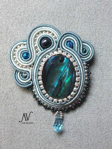 Broche-pendentif Abalone
