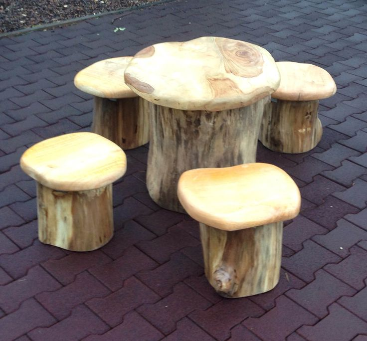 Natural mushroom setting