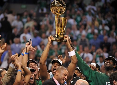 June 17, 2008 - The #BostonCeltics defeated the Los Angeles Lakers 4 games to 2 in the NBA Finals.
