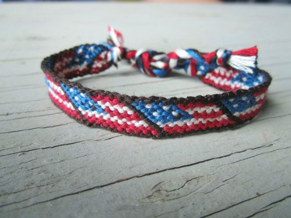 American Flag Friendship Bracelet par TheArtSwallow Etsy