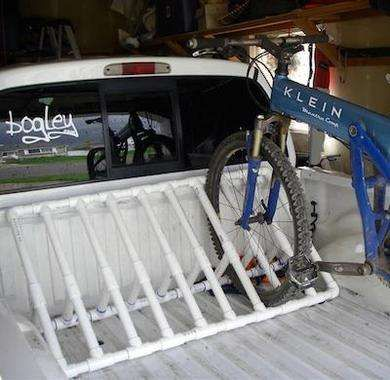DIY Bike Rack from PVC Pipe