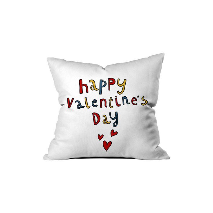 ''Happy Valentine's Day'' Renkli Yazılı Kırlent Sev.G - Kırlentler - Cipcici