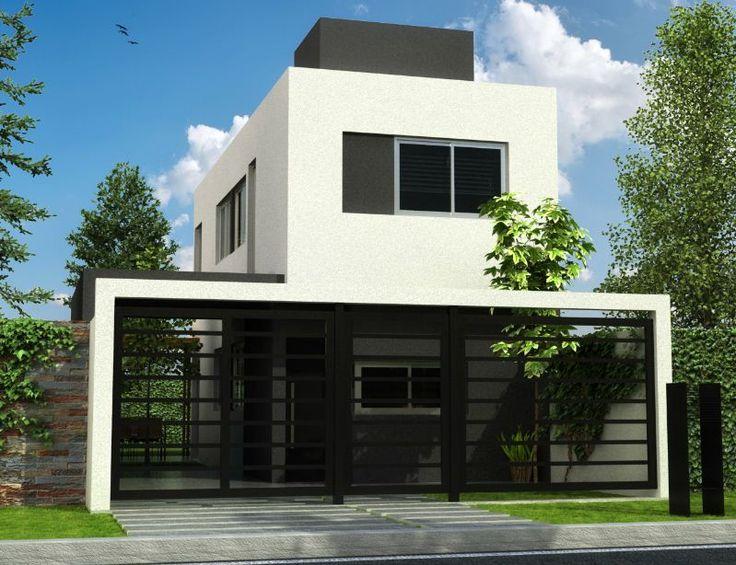 Fachadas de casas con rejas y portones casas pinterest - Rejas de casas modernas ...