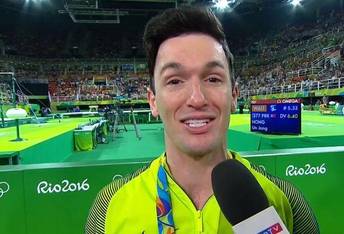 Men's Floor Exercise Final - Diego Hypolito - Silver Medal