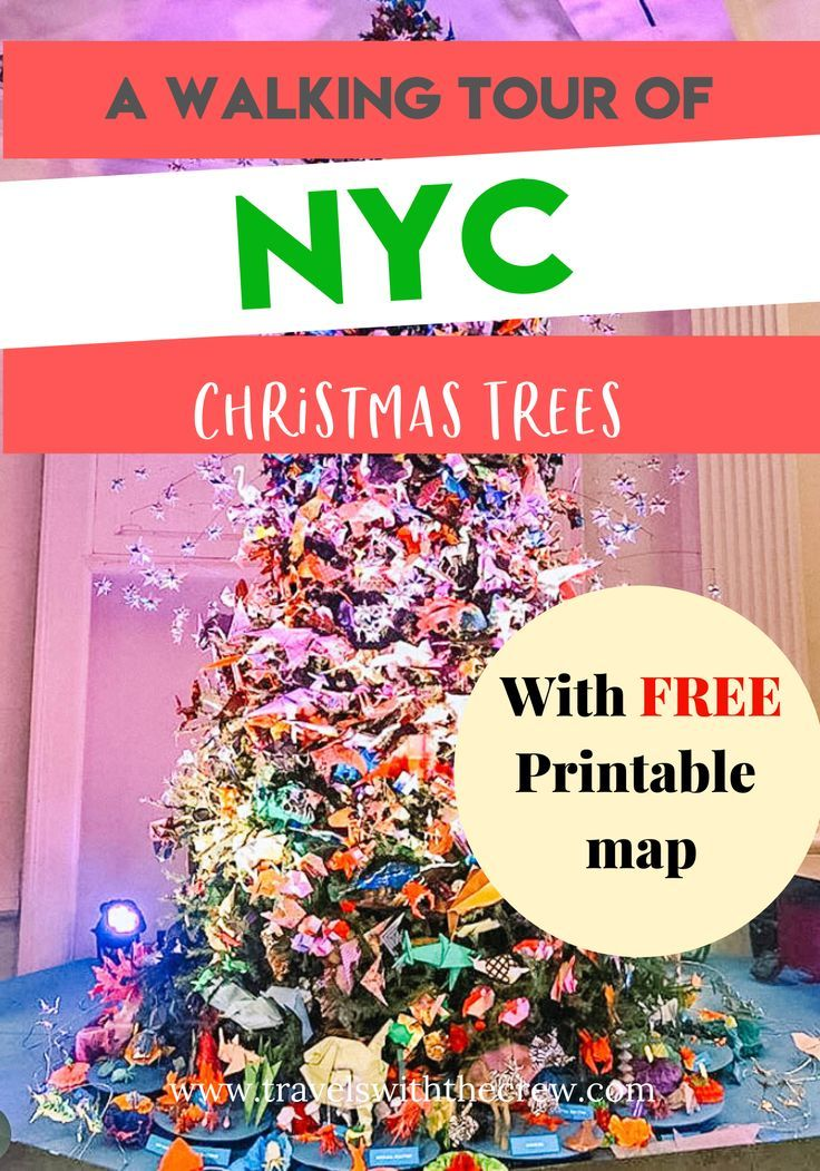 Christmas Markets Usa 2020 Map Walking tour of Christmas Trees in NYC  with printable map