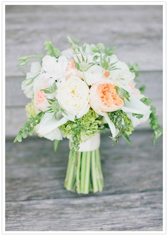 A romantic bouquet perfect for a garden #wedding!  From http://100layercake.com/blog/2012/11/06/romanti-vineyard-wedding-katie-joe/ Photo Credit: http://maggieharkov.com/  Florals by http://klenahandesigns.com/