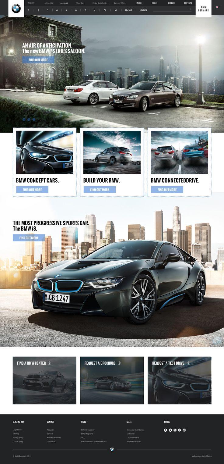 Layout photoshop web design website template tutorials tutorial 022 - Bmw Website Re Design Design Carsdesign Webdesign Layoutsbmw Websitephotoshop