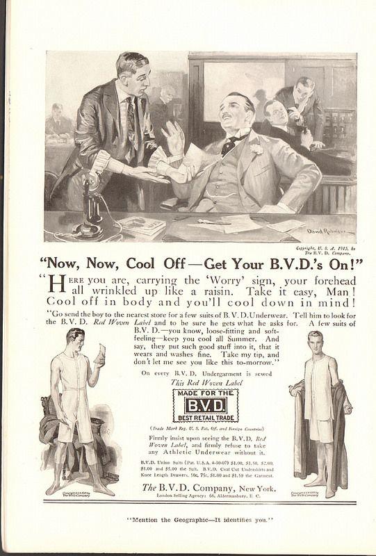 1915 BVD Underwear Advertisement National Geographic June 1915 | by SenseiAlan
