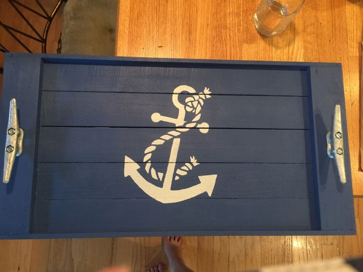 A personal favorite from my Etsy shop https://www.etsy.com/listing/265724904/large-anchor-serving-tray-nautical-gifts
