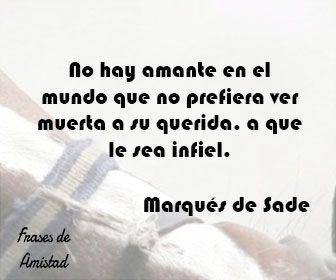 Frases de infidelidad de Marqués de Sade
