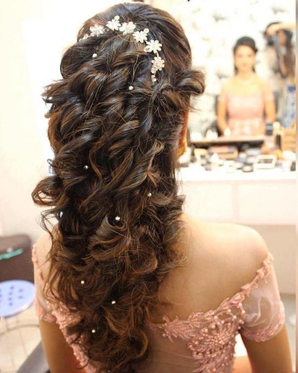 Top 2018 Indian Bridal Hairstyles For Your Wedding Day In 2020 Indian Bride Hairstyle Wedding Hair Down Bridal Hairstyle Indian Wedding