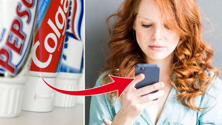 11 Toothpaste tips! (Swedsih) //Du kanske trodde att tandkrämen bara fungerar för tänderna. Men den tar även bort repor på mobilen, svåra fläckar i hemmet och gör skorna som nya. Läs våra 11 tandkrämstips och inse att du har ett universalmedel i badrummet!