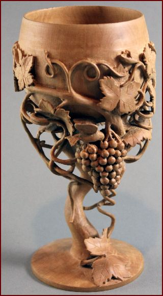 Untitled  goblet With Grapes and Bird 2001 Pear