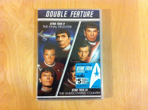 Star Trek V - The Final Frontier / Star Trek VI The Undiscovered Country DOUBLE FEATURE @ niftywarehouse.com #NiftyWarehouse #Geek #Fun #Entertainment #Products