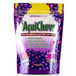 Nutrition Works Amazon Rainforest Acai Chews http://www.onegreenplanet.org/vegan-health/acai-health-benefits-tips-and-product-picks/5/