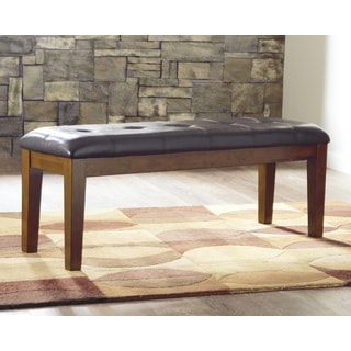 Shop for Signature Design by Ashley Ralene Brown Leatherette Dining Bench. Get free shipping at Overstock.com - Your Online Furniture Outlet Store! Get 5% in rewards with Club O! - 16307547