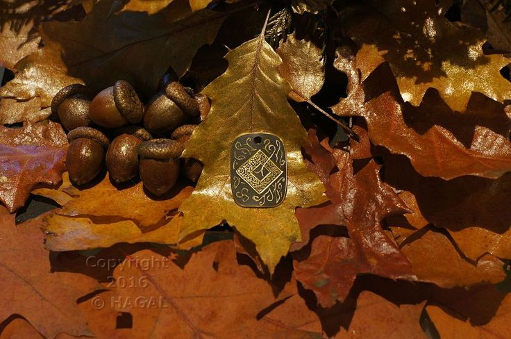 Ingwaz  Rune Amulet Pendant Handmade Brass Wicca Pagan Viking Druid