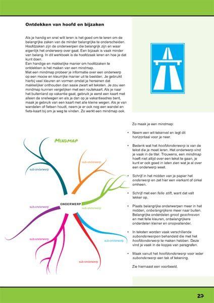 Mindmap maken. Pagina uit het werkboek Ik leer leren. http://ikleerleren.nl/werkboek-bestellen