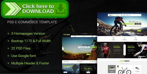 [ThemeForest]Free nulled download Sportbike - Multipurpose eCommerce PSD Template from http://zippyfile.download/f.php?id=31273 Tags: accessories, bike, clean, creative, customizable, ecommerce, fashion, mega menu, modern, multipurpose, online shop, psd template, shoes, shopping, sport