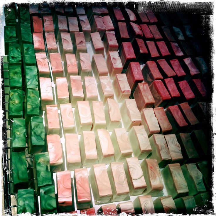 #Rainbow nation!! Our new batch; Cape #May, Cape #Chamomile & Cape #Aloe #Herbal Cleansing Bars, on the drying rack. Smelling #divine!!!! Www.LithaFlora.com