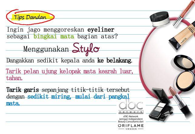Belajar bikin bingkai mata bagian atas dengan eyeliner Stylo