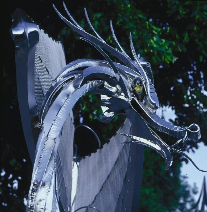 Mythical Dragon Gate Protects Home - My Modern Metropolis