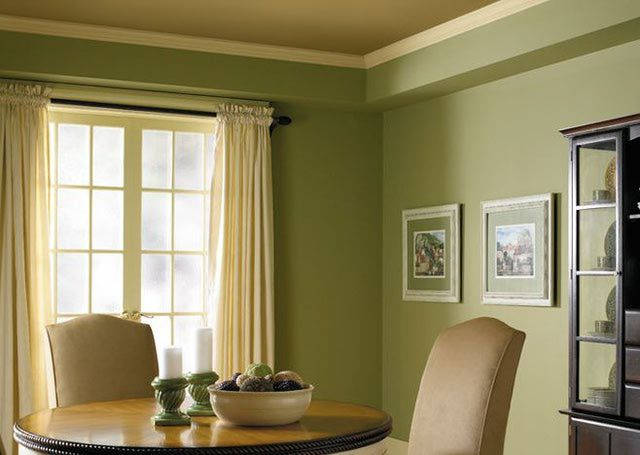 10 Perfect Colors For Your Dining Room Green Dining Room