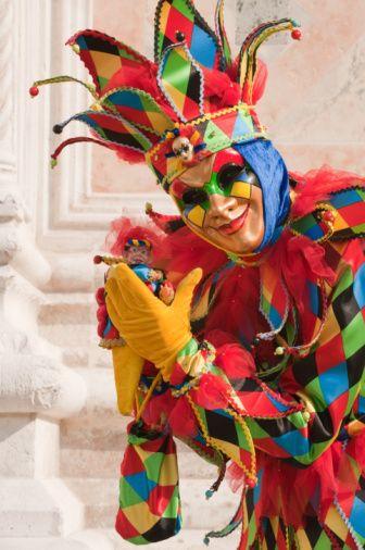 Multi-Colored Jester Costume