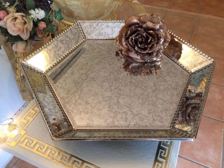 Hochwertiges Spiegel Tablett Silber Serviertablett ANTIK Jugendstil Edel LUXUS in Möbel & Wohnen, Kochen & Genießen, Gedeckter Tisch   eBay!