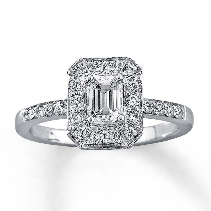 Allurez 14kt White Gold Oval Tanzanite & Halo Diamond Engagement Ring - UK G 1/4 - US 3 1/2 - EU 45 3/4 cxp1BmSK
