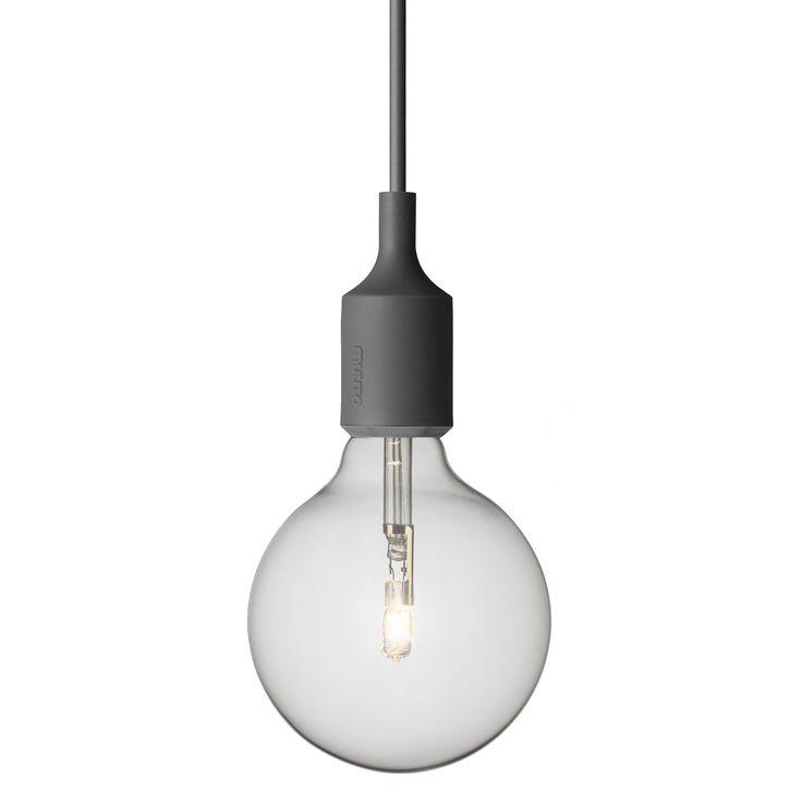 E27 lampa, mörkgrå i gruppen Belysning / Lampor / Taklampor hos RUM21.se (101158)