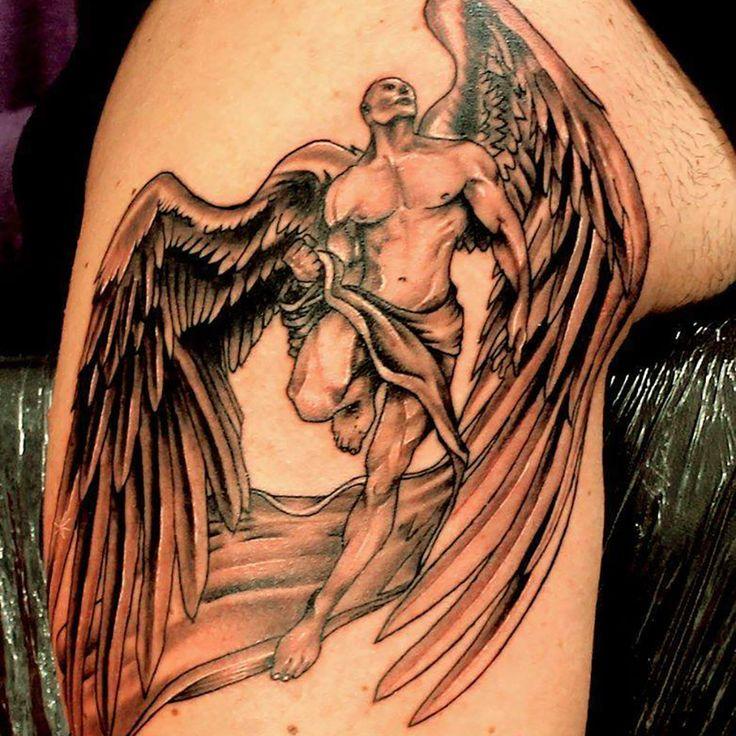 Erkek melek desenli dövme. Dövme ( Tattoo ) Sanatçısı: Tahir Yıldırım