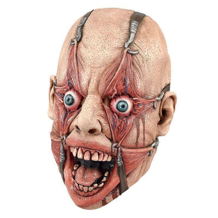 Realistic Horror Latex Torture Mask Hamulus Fear Halloween Fancy Dress - Dragons Den Fancy Dress Limited
