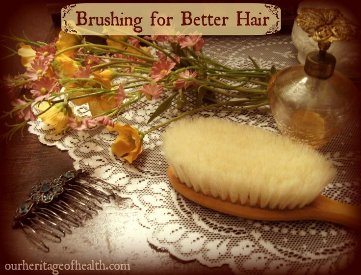 Old-Fashioned Hair Care Tips: Brushing for Better, Healthier Hair